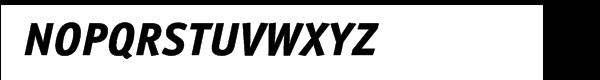 ITC Officina™ Sans Extra Bold Italic Font UPPERCASE