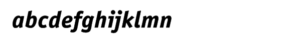 ITC Officina™ Sans Extra Bold Italic Font LOWERCASE