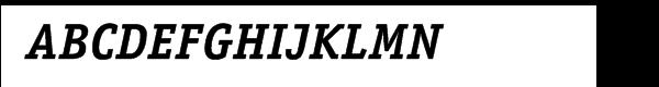 ITC Officina™ Serif Bold Italic Font UPPERCASE