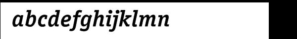 ITC Officina™ Serif Bold Italic Font LOWERCASE