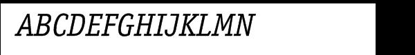ITC Officina™ Serif Book Italic Font UPPERCASE