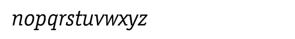 ITC Officina™ Serif Book Italic Font LOWERCASE