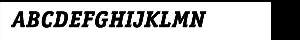 ITC Officina™ Serif Extra Bold Italic Font UPPERCASE