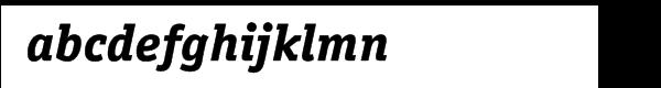 ITC Officina™ Serif Extra Bold Italic Font LOWERCASE
