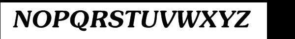 ITC Souvenir® Demi Italic Font UPPERCASE