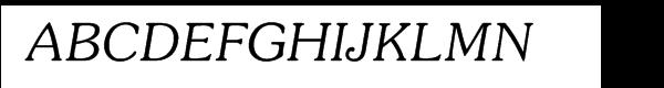 ITC Souvenir® Light Italic Font UPPERCASE