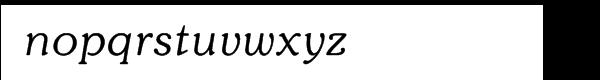 ITC Souvenir® Light Italic Font LOWERCASE