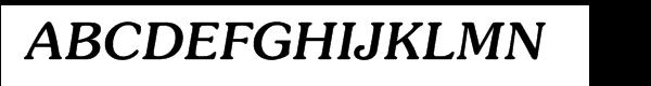 ITC Souvenir® Medium Italic  What Font is