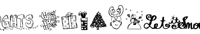 Janda Christmas Doodles  What Font is