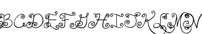 Janda Swirlygirl  What Font is