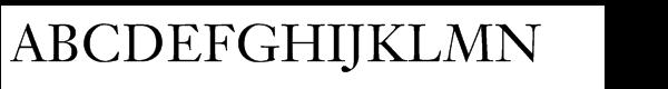 Janson® Text 55 Roman SC  What Font is