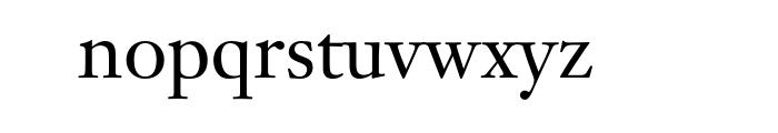 Janson Text Std 55 Roman Font LOWERCASE