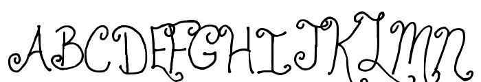 Jheri Curls Font UPPERCASE
