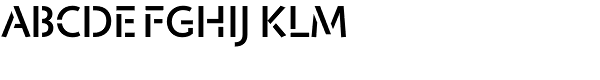 Jigsaw Stencil-Medium  What Font is