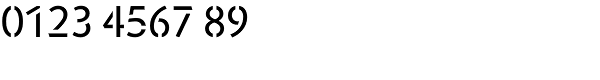 Jigsaw Stencil-Regular Font OTHER CHARS