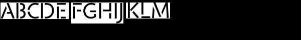 Jigsaw Stencil-Regular Font UPPERCASE