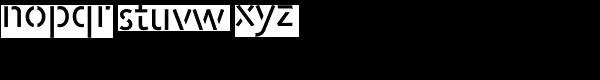 Jigsaw Stencil-Regular Font LOWERCASE