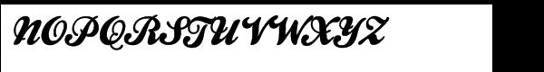 Kestrel Script Font UPPERCASE