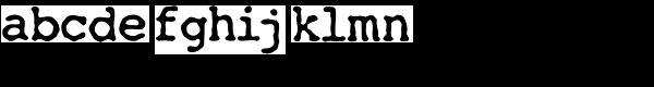 Kfont Z111 Font LOWERCASE
