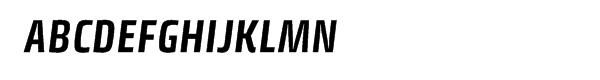Klint® Bold Condensed Italic  What Font is