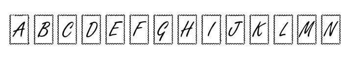KR Ribbon Frame  What Font is