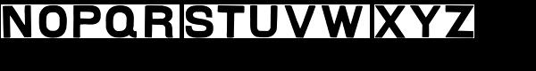 Landry Gothic Font LOWERCASE