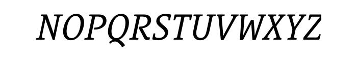 Le Monde Courrier Std Italic OT Font UPPERCASE