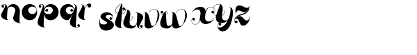 Loulou Font LOWERCASE