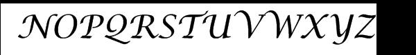 Lucida™ Calligraphy Font UPPERCASE