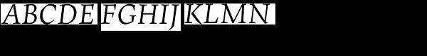 Maiola Greek Italic  What Font is