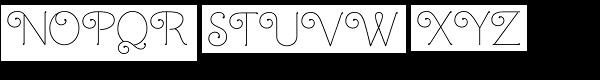 Mandevilla Font UPPERCASE