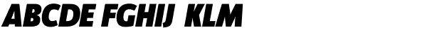 Manual Sans Italic-Black Font UPPERCASE