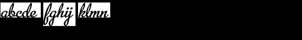 Metroscript Font LOWERCASE