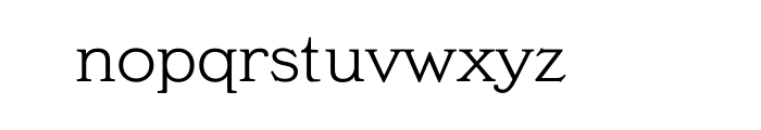 Meyer Two Regular OT Font LOWERCASE
