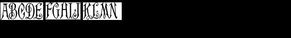 MFC Carson Monogram (10000 Impressions) Font UPPERCASE