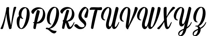 Mission-Script Font UPPERCASE