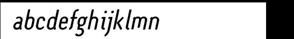 Monolein Slanted Font LOWERCASE