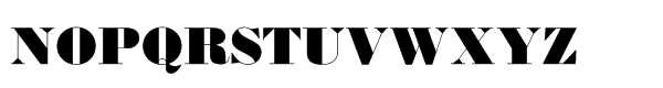 Monotype Bodoni Std Ultra Bold Font UPPERCASE