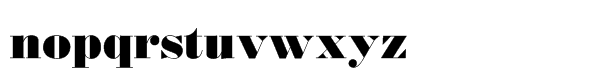 Monotype Bodoni Std Ultra Bold Font LOWERCASE