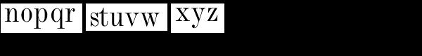 Monotype Modern Std Condensed Font LOWERCASE