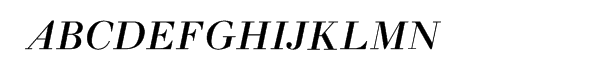 Monotype Walbaum™ Medium Italic  What Font is