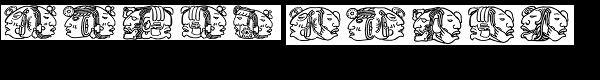 Montezuma Four  What Font is