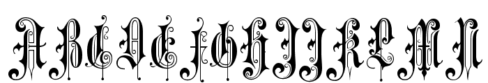 Music Hall Font UPPERCASE
