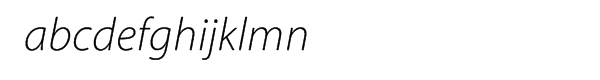 Myriad® Pro Light Italic Font LOWERCASE