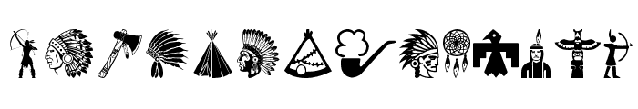 Native American Indians  What Font is