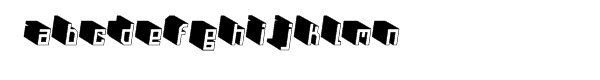 Nautilo™ Variations 3D Font LOWERCASE