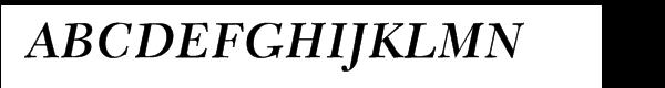 New Caledonia™ Semibold Italic  What Font is