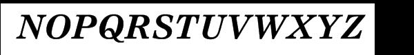 Nimrod® Cyrillic Bold Inclined Font UPPERCASE