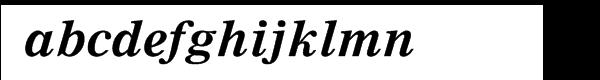 Nimrod® Cyrillic Bold Inclined Font LOWERCASE