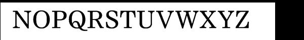 Nimrod® Cyrillic Font UPPERCASE